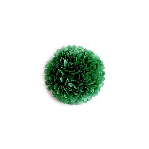 5pcs Seidenpapier Pompoms Hochzeit Dekorative Papierblumen-Ball-Geburtstags-Party-Dekoration, dunkelgrün, 15cm 6inch