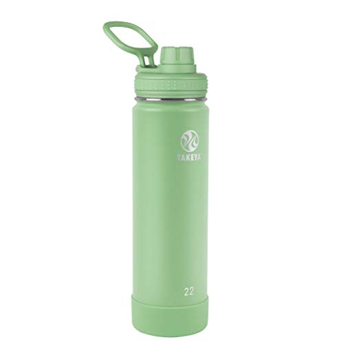 Takeya Actives Insulated Water Bottle w/Spout Lid, Mint, 22 Ounce