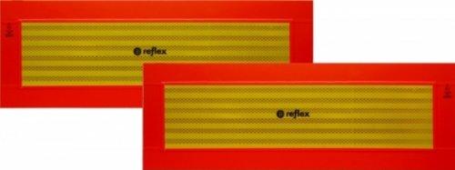 Heckwarntafel für Anhänger und Auflieger, magnetisch, ECE 70.01, 565 mm x 195 mm, 2 Stück