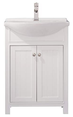 LUCA Kitchen & Bath LC24HWP Carson 24' Bathroom Vanity Set in White...