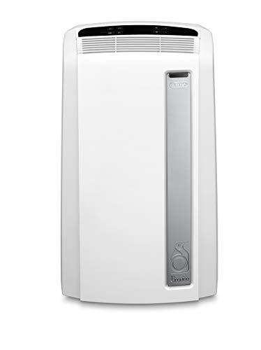De'Longhi PAC AN112 Silent Mobiles Klimagerät (Klimaanlage, Luft-Luft System, Max. Kühlleistung 2,9 kW/11000BTU/h, Separate Entfeuchtungsfunktion, Geeigent für Räume bis zu 110 m³) [EEK A+],Weiß