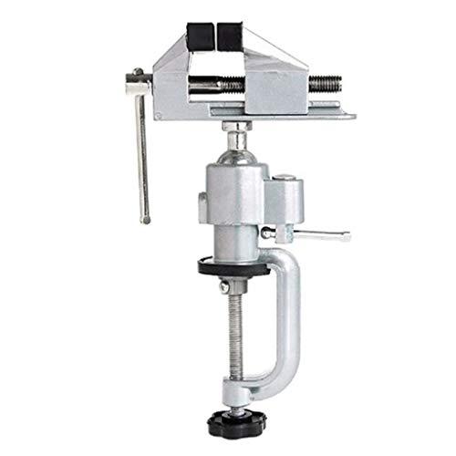 DDMYF 2 en 1 Visor Tabla Banco Vice Aleación de Aluminio 360 Grados Rotativo Visor Universal Precise Mini Vise Abrazadera Alloet