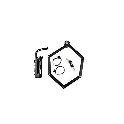 Trelock Unisex– Erwachsene Faltschloss-2982032000 Faltschloss, Schwarz, One Size