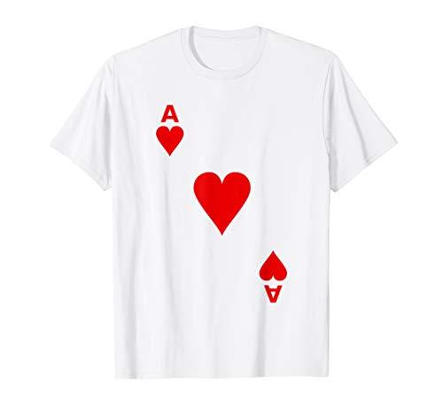 Kartenspiel Spielkarte Herz As Karte Kostüm Verkleidung T-Shirt
