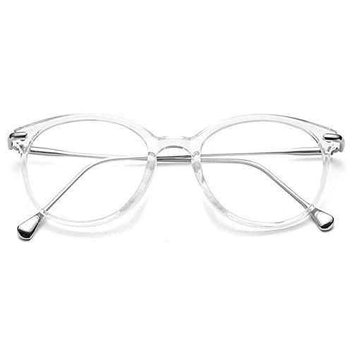 OYMI Clear Lens Glasses Round Eyeglasses Frame Non-Prescription Glasses for...