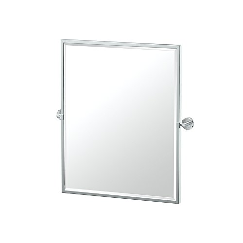 Gatco 4249FSM Latitude II Small Framed Rectangle Pivot Mirror, 25 Inch, Chrome