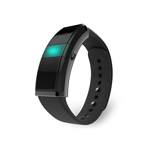 Nex is Your Customizable Smart Band, The Evolving Wearable with Custom Light Notifications, Activity Tracker, Smart Home Integration - One Wearable. Endless Control. (Black)