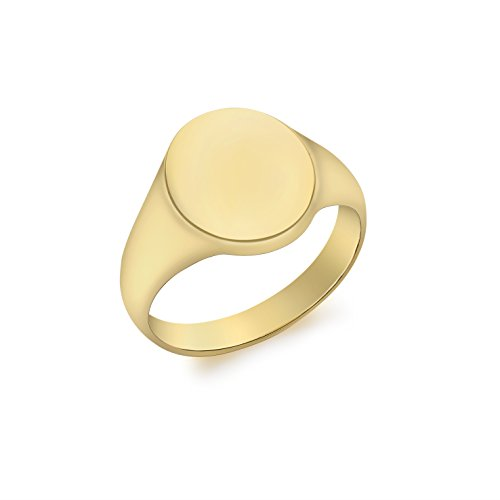 Carissima Gold Siegelring 9k (375) Gelbgold Oval Plain 1.48.9649