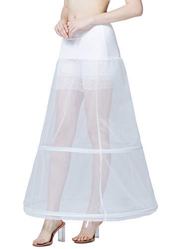 BEAUTELICATE Enaguas Largo Mujer Cancán Crinolina Vintage Petticoat Rockabilly para Vestido Novia...