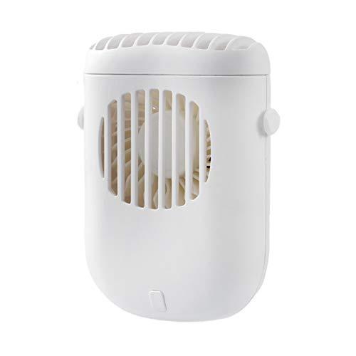 Mini Ventilador, Ventilador De Mano Ajustable ABS Portátil Recargable De Mini Fan para El Hogar Blanco Talla única