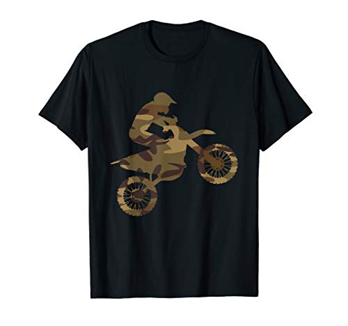 Camouflage Motocross Dirt Bike Racing Biker Motorrad T-Shirt