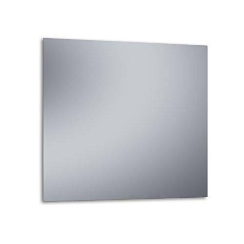 """Kristaled Basic """"L"""" 90x80 cm (Colgador Especial focos Pinza) Espejo, Cristal, Plateado, 90x80x3 cm"""