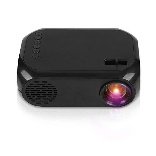 Fosa ミニ2   ポータブル家庭用プロジェクター LEDプロジェクター TF SDカードUディスクUSB HD HDMI 110-240V(ブラック USプラグ)
