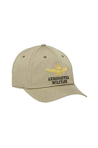 Aeronautica Militare Gorra de hombre con visera verde sombrero 191HA980CT2262-07196 TAGLIA UNICA
