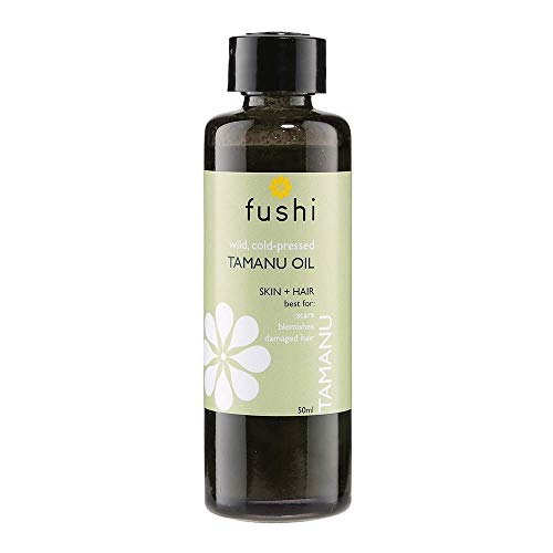 Fushi Wellbeing F0010437 Fushi Organic Tamanu Oil 50ml Extra Virgin Cold Pressed – Biodynamic Harves,