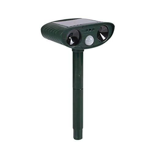 N/B Outdoor Animal Repellent, Environmental-Friendly Solar-Powered Insect Repellent, Ultrasonic Infrared Induction to Drive Cat Repellent Dog Repellent.