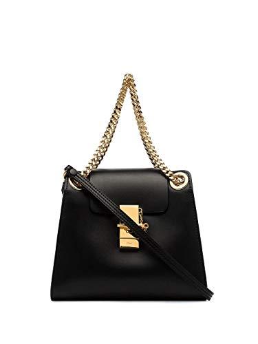 Chloé Luxury Fashion Damen CHC19AS118A37001 Schwarz Leder Schultertasche   Frühling Sommer 20