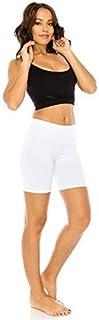 CNC STYLE Women's Cotton Stretch Layering Yoga Bermuda Biker Shorts Tights Pants Leggings Teamwear Under Skirts