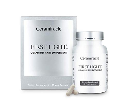 Ceramiracle First Light Ceramides Skin Supplement | Anti-Aging, Boost Hydration, Firmer Skin | Ceramosides Phytoceramides, French Melon, Gynostemma | Natural, Cruelty Free | 30-Day Supply