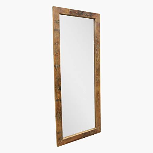 STUFF Loft Espejo de pared vintage de la colección Factory con marco de madera reciclada, 70 x 3 x 180 cm