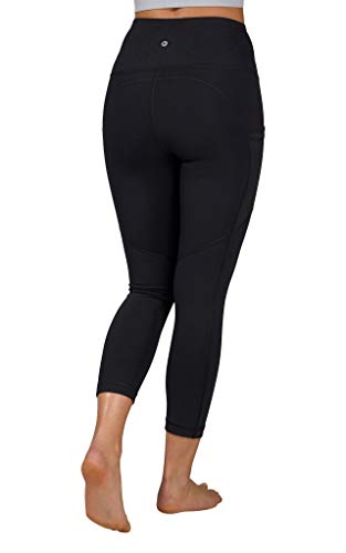 90 Degree By Reflex High Waist Squat Proof Yoga Capri Leggings with Side Phone Pockets