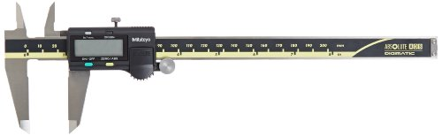Mitutoyo 500-197-30 Advanced Onsite Sensor (AOS) Absolute Scale Digital Caliper, 0 to 8'/0 to 200mm Measuring Range, 0.0005'/0.01mm Resolution, LCD