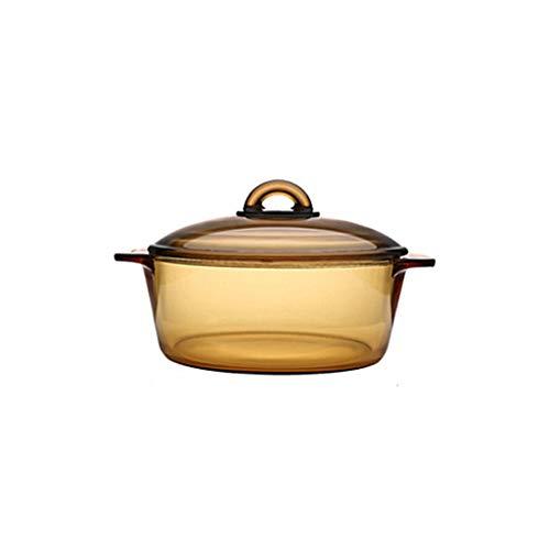 Cocottes Römertopf 1L orange pot combustion droite résistance à la chaleur à haute température verre trempé lente cooke 16.8x7cm