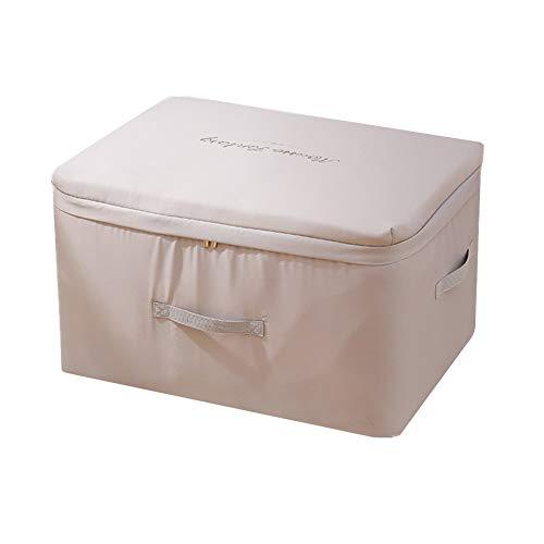 DC CLOUD Caja De Almacenamiento Bolsa De Almacenamiento Caja De Almacenamiento De Ropa Debajo De La Cama con Armario Organizador con Cremallera para Almacenamiento En El Dormitorio Gray,Small