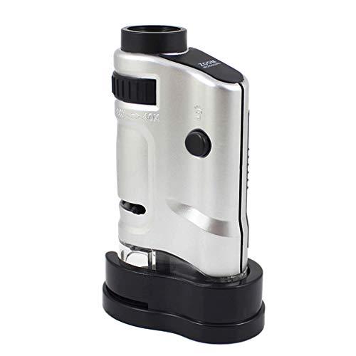 BIlinli Zoom Gema Monocular Lupa Microscopio de Bolsillo de Vidrio Mini Lupa Multifunción Lámpara UV Impresión Joyería LED Iluminado