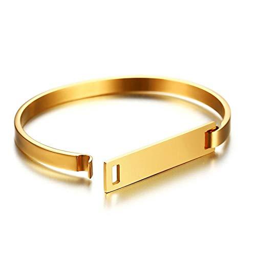 Armband sieraden 9Mm 316L Roestvrij Stalen Armband Vrouwen Goud Zilver Kleur Armband Aangepaste Naam Erkek Bileklik Charme Armband Freee Gravure