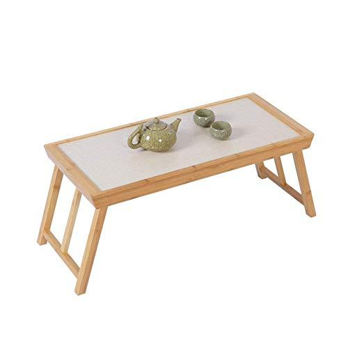 ZGQA-GQA El Ordenador portátil representa Cama del Escritorio del sofá Tabla casera de múltiples Funciones Plegable portátil de té Tabla Lectura de los Libros de bambú 65x28x28CM
