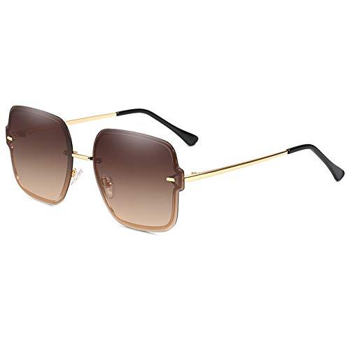 Gafas De Sol para Hombre Y Mujer Moda Gafas ProteccióN para ConduccióN Gafas De Deportes Al Aire Libre De Pesca De Moda Regalo de San Valentín (Color : Tea)