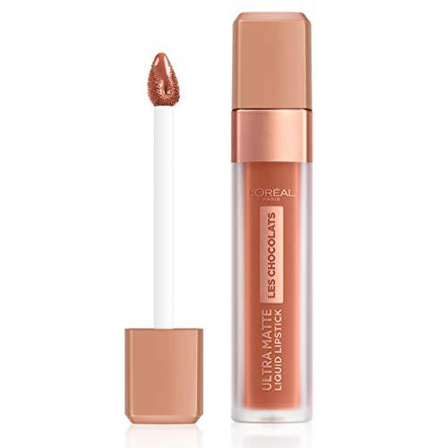 L'Oréal Paris Ultra Matte Steffi's Chocolates 862 Volupto Choco, flüssiger Lippenstift, 76 g