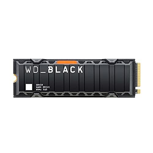 WD_BLACK SN850 2 To Disque SSD NVMe interne avec dissipateur thermique pour les jeux; technologie PCIe Gén. 4, vitesse de lecture jusqu'à 7000Mo/s, M.2 2280, avec Heatsink