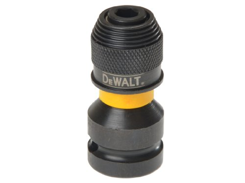 Dewalt Extreme Impact Schlagschrauber-Adapter DT7508 (1/4 Zoll Werkzeugaufnahme für 1/2 Zoll Schlagschrauber, für den Einsatz in Schlagbohrschraubern, Bohrmaschinen und Schraubern)
