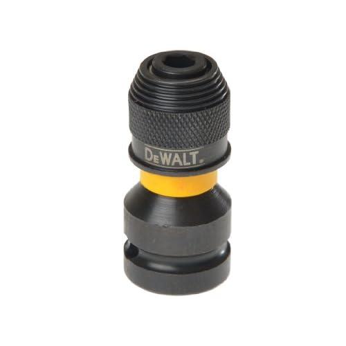DeWalt DT7508-QZ Adattatore per Avvitatori da 1/2 a 1/4, Multicolore (Nero/Giallo), 45 x 35 x 15 cm