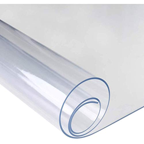 Transparent Bürostuhl Unterlage, 0.5mm Rechteckig Bodenschutzmatte Schreibtischstuhl Matte PVC Stuhl Matte, FüR HartböDen Parkett Bodenmatte(0.5mm50x150cm/19.69x59.06in)
