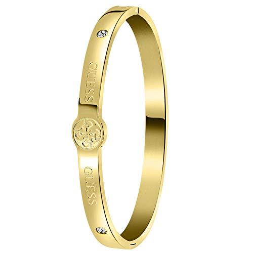 Guess - Armreif, Edelstahl, vergoldet, 4G-Logo - für Damen - Gold