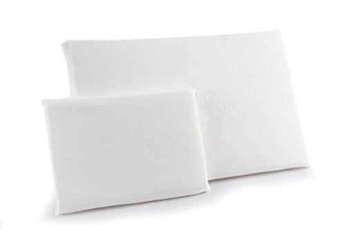 Cuscino per Lettino Antiacaro, Antisoffoco, Anallergico, Traspirante e Certificato Oeko-Tex,Bianco