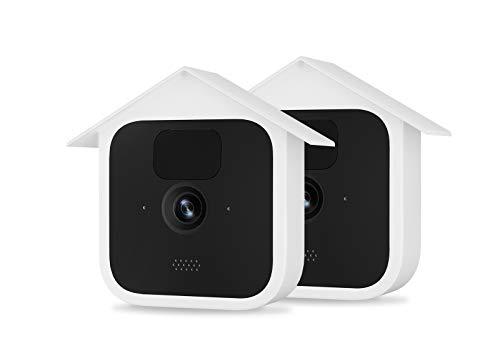 TIUIHU Silikonhülle für Die Neue Blink Outdoor-Überwachungskamera-Silikonhülle für Blink-Kamera - Kratzfeste Schutzhülle für vollen Schutz (2er-Pack, weiß)