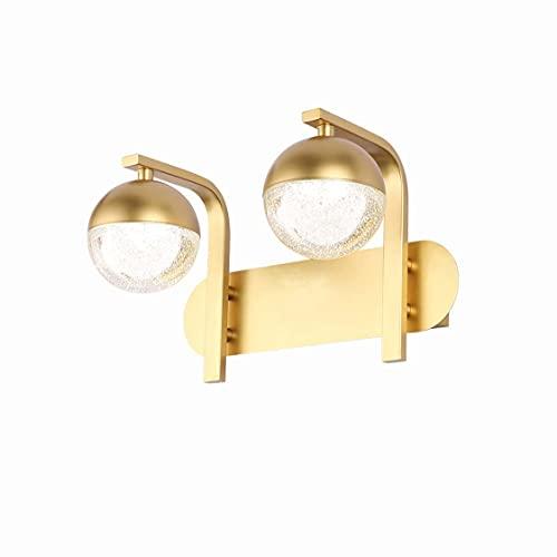 HMAKGG LED Luz Espejo Baño Retro, 6W Aplique de Baño Vintage, 2-Luz Vintage Lámpara de Pared para Baño Lámpara de Espejo Baño Luz Maquillaje Para Espejo