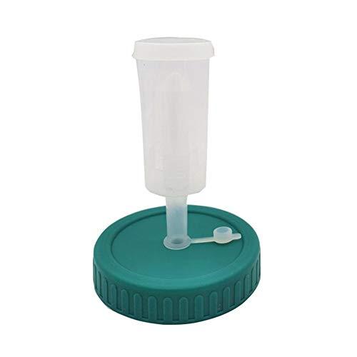 Adminitto88 Mason Jar tapa de fermentación 86 mm Kit de tapas de fermentación Airlock para boca ancha Mason Jar Fermentación tapa con anillo de silicona y kit de fermentación para tarros de boca ancha