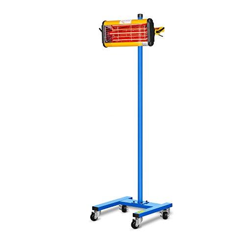MSW Lacktrockner Infrarot Trockner Strahler IR-DRYER1000 (1100 W, 1 Strahler, 40–100 °C, Trocknungsfläche 800 x 500 mm, Timer 1–60 min)