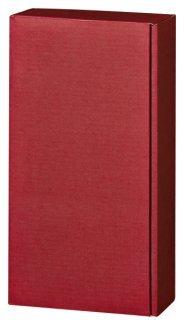 5 Stück Set! Edler Weingeschenkkarton 2er bordeaux rot, Leinenoptik Design. Edle Wein Geschenkverpackung für zwei Flaschen, Leinen Struktur, einfarbig. Exklusiver Präsentkarton für Ihr Weingeschenk