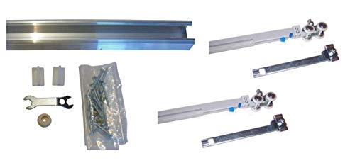 Series 1- Heavy Duty Pocket Door Track and Hardware with Soft Close and Soft Open (72 inch Track (for 36 inch Door))
