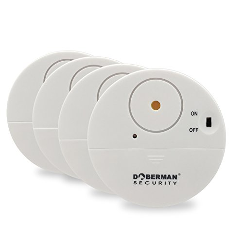 Doberman Security Ultra-Slim Design Security Alarm, White (SE-0106W-4PK)