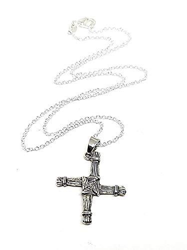 Eclectic Shop Uk St Brigid's Cross Irish Pendant Necklace Bridget's Boho Jewellery Pendant Celtic Imbolc Pagan Wiccan