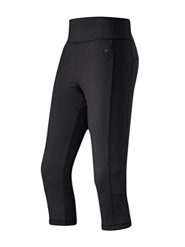 Michaelax-Fashion-Trade Joy - Bodyfit Light - Damen 3/4 Hose mit Shaping-Effekt, Nadine (30218), Größe:40, Farbe:Black (00700)