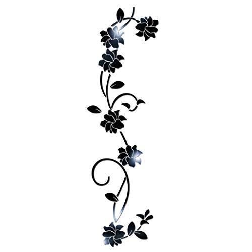 routinfly DIY Dekoration Kreative Wandaufkleber 3D Blume Form Acryl Aufkleber Moderne Aufkleber Dekoration