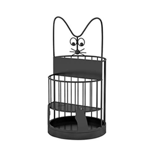 LSMK Paragüero Encantador Estante de Soporte de Paraguas para Gatos para Entrada a La Guardería, Organizador de Paraguas de Metal Duradero, Soporte para Bastones de Juguetes